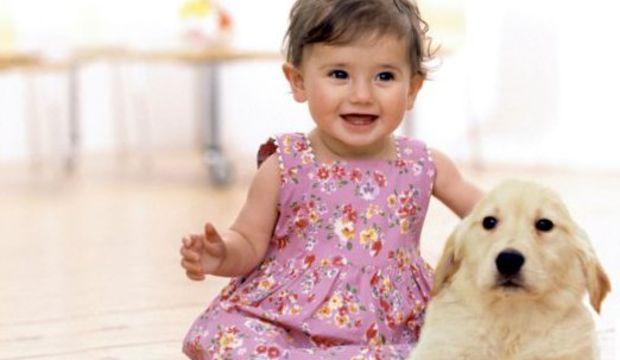 Kedi ya da köpeğiniz bebeğinizle kucak kucağa
