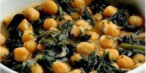 Nohutlu ve pazılı çorba