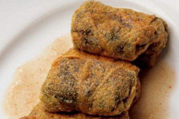 Tereyağıyla kızartılmış hodan otu sarma
