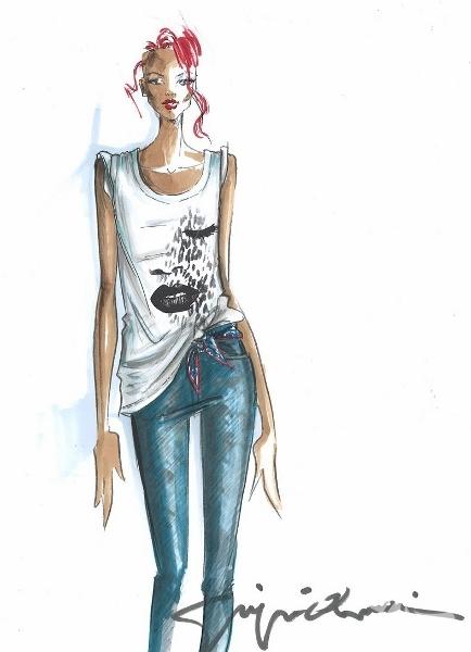 Rihanna, Armani için tasarladı...