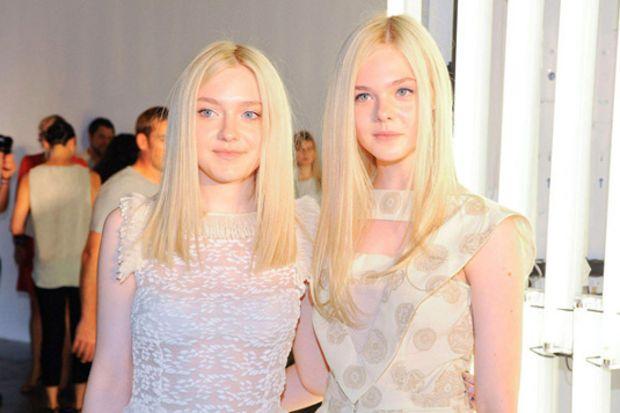 Hollywood'un küçük yıldızları Dakota ve Elle Fanning kardeşler