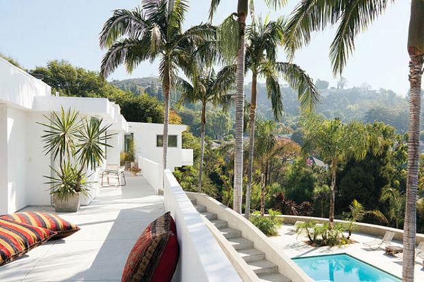 Maroon 5 grubunun solisti Adam Levine'in Los Angeles'taki evi