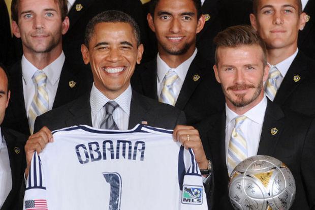 Obama, Beckham'a öyle bir şaka yaptı ki...