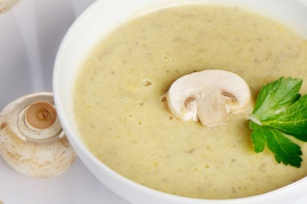 Kremalı mantar çorbası...