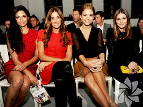 Moda haftasına katılan ünlüler...