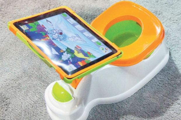 iPad'li WC eğitimi!