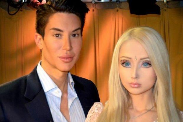 Valeria Lukyanova ile Justin Jedlica bir arada
