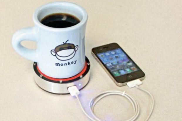 Sıcak kahve telefonu şarj edecek!
