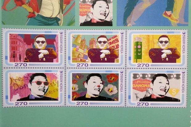 """""""Gangnam Style"""" şimdi pullarda!"""
