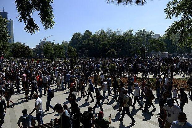 Eylemciler Taksim'de toplandı!