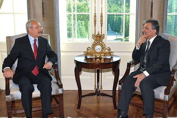 Cumhurbaşkanı Gül, Kılıçdaroğlu'nu kabul etti...