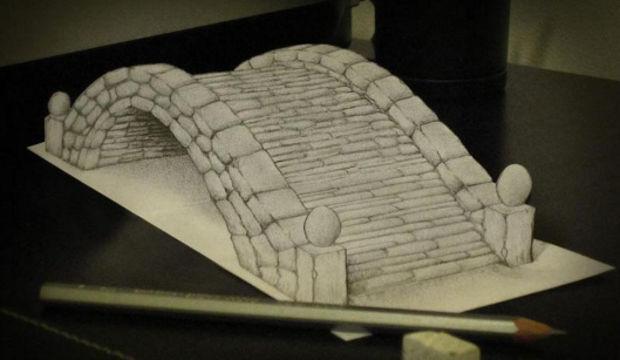 3D kara kalem çalışması...