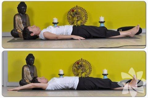 Poz-1: (Ofis ortamı için özellikle) Oturduğunuz yerde ellerinizi karnınıza koyarak farkındalığınızı göbek deliğinin hareketine taşımalı ve birkaç nefes alarak takip etmeye başlamalısınız. ( uzanamayacağınız durumlar için alternatif poz ) Eğer olduğunuz ortam oturmanın dışında başka pozisyon alabileceğiniz bir yerse aşağıdaki pozu uygulamanızı öneririz. Poz-1: Sırt üstü yere uzanın, tüm vücudunuz düz olacak şekilde, kollarınız bacaklarınızın yanında olacak şekilde uzatın. Nefesinizi alırken kollar aynı anda arkaya doğru kaldırın ve ayaklar topuklardan önde bir duvar itermişçesine hareket ettirin. Verirken nefesi kollar bacakların yanına arkadan kaldırılarak geri getirin ve aynı anda da haahhhh diye ses çıkarın. Bu pozun amacı sığlaşan nefesimizi tekrar bulmak. Yine bu pozu tekrarlama sayınız sizin kendinizi ne zaman rahat hissedeceğinize, nefesinizi ne zaman bulacağınıza bağlı olarak tekrar edebilirsiniz. ( pozisyon alabileceğiniz her ortam için )