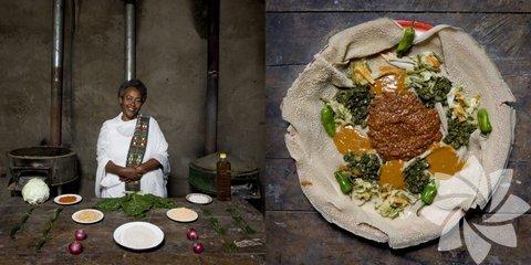 Etiyopya- Körü soslu sebzeli krep