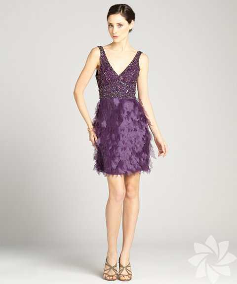 Püsküllü yılbaşı elbise modelleri