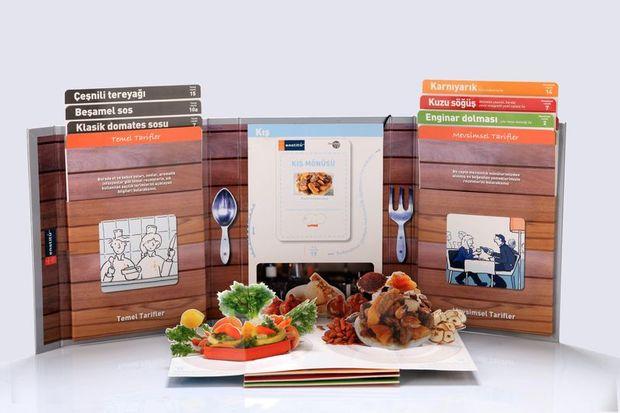 Türkiye'nin ilk üç boyutlu yemek kitabı