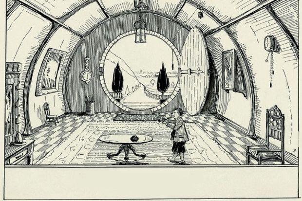 Tolkien'in çizimleriyle Hobbit kitabı