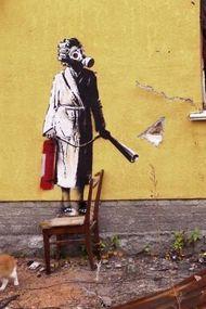 Banksy bu kez evsizlere dikkat çekti!