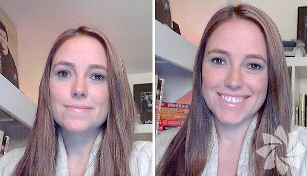 1) Kamerayı göz hizanızdan birkaç santim yukarıya yerleştirin       Televizyon programı sunucusu ve yazar Amber Mac, Skype konuşmalarında insanların en sık yaptığı hatanın kameralarını göz seviyelerinden aşağıya yerleştirmek olduğunu söylüyor. Kamera göz hizasından aşağıda olduğunda, konuştuğunuz kişi size aşağıdan bakıyormuş gibi bir etki yaratıyor ve çekici bir görüntü oluşmuyor. Mac, Skype kullanıcılarına kamerayı göz hizalarının birkaç santim yukarısına denk gelecek şekilde hizalamalarını öneriyor.