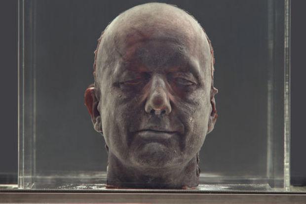 Kanı ile yaptığı heykeli İstanbul'da