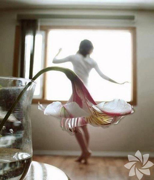 Kadın ve çiçek birlikteliğinin zarafeti...
