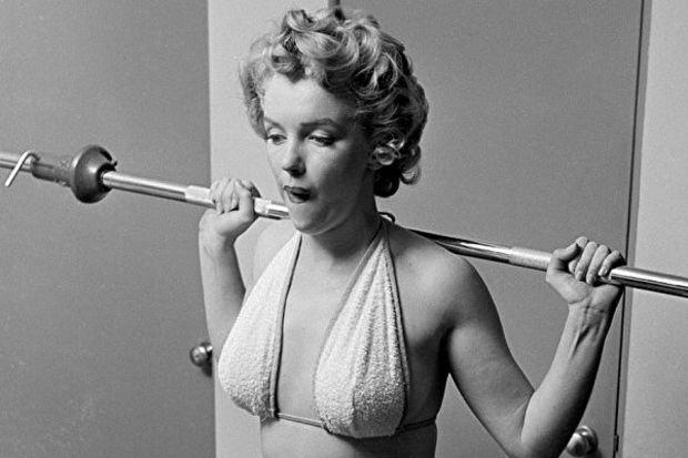 Marilyn Monroe da fitness yapmış