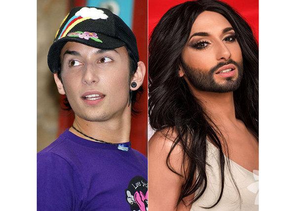 """Thomas """"Tom"""" Neuwirth veya daha çok bilinen drag rolünün ismi ile Conchita Wurst, Avusturyalı bir şarkıcıdır."""