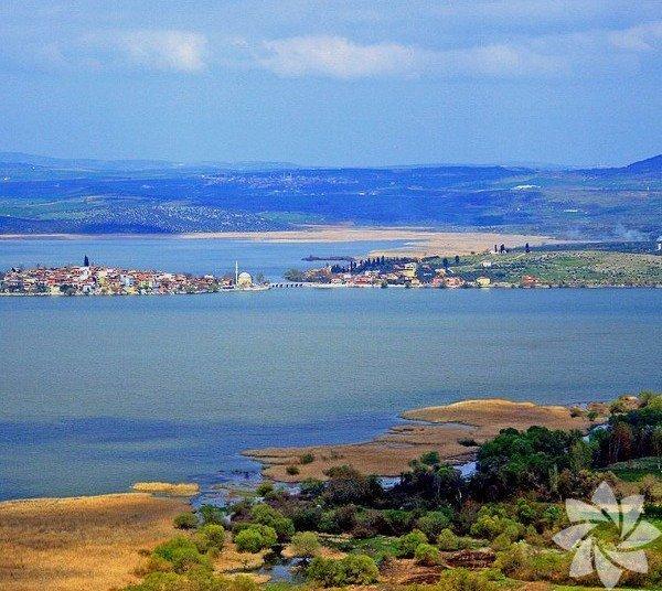 Gölyazı, Bursa-İzmir karayolunda Uluabat gölü (Apollont gölü) kıyısında küçük bir yarımadada kurulmuştur. Tarihi, Roma dönemine kadar gider. Roma döneminden kalanları, evlerin temel taşlarında görmek mümkündür. Tarihi ve coğrafi orijinal özellikler taşır. Apollon Krallığı'nın merkezi olarak bilinir. Köyün başlıca geçim kaynağı günümüzde balıkçılık ve zeytinciliktir.