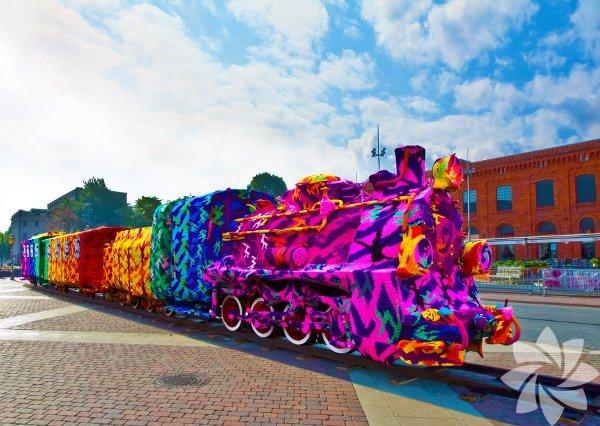 Yeni sokak sanatı:Yarn Bombing