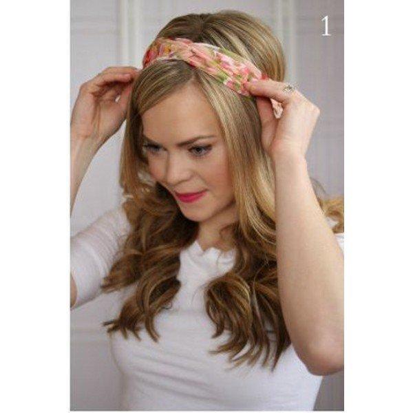 Bandana ile 7 adımda saç modeli