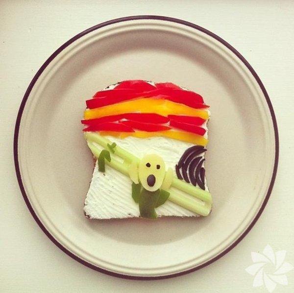 Tost ekmekleriyle sanat...