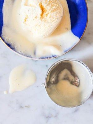 Ev yapımı vanilyalı dondurma