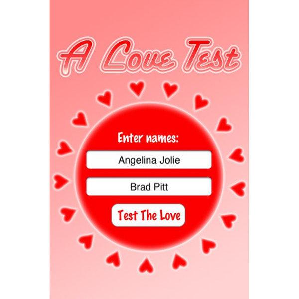 A Love Test:Compatibility Calculator İki isim arasındaki uyumu gösteren bir aşk testi uygulamasıdır. Uygulama, sonuçları arkadaşlarınızla ya da sosyal ağlarda paylaşmaya olanak sağlamaktadır. Love Test: Compatibility Calculator, iOS (iPhone, iPad vb.) işletim sistemine sahip cep telefonlarında ve tabletlerde kulanabileceğiniz bir uygulamadır.