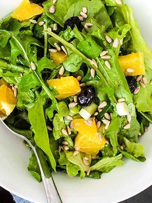 Portakallı roka salatası