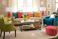 Rengârenk oturma odaları