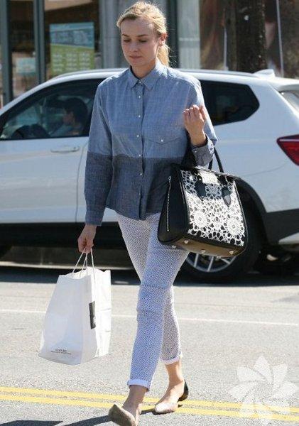 Diane Kruger'ın sokak stili