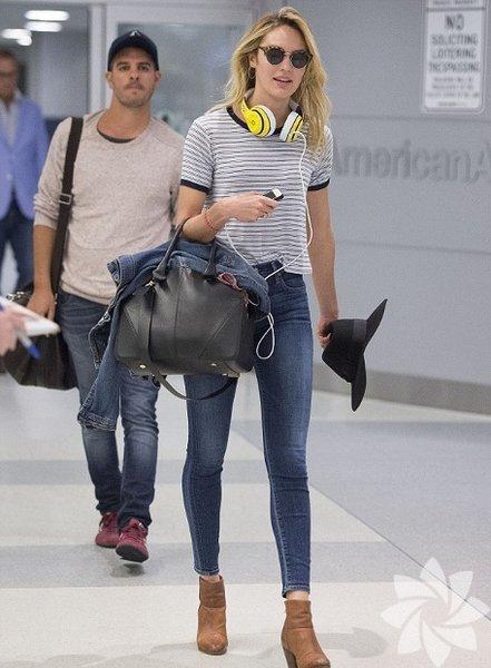 Candice Swanepoel'un sokak stili