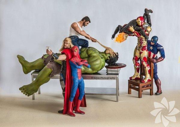 Süper Kahramanların gizli yaşamından kareler...