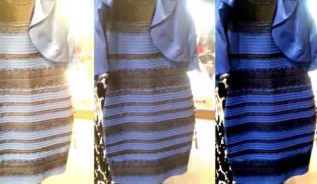 Elbisenin rengi sosyal medyayı ikiye böldü!