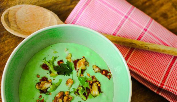 Cevizli brokoli püresi