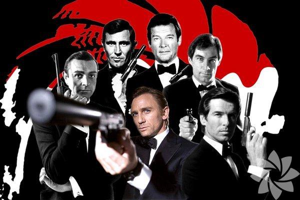 """James Bond 007  Ian Fleming'in romanlarından sinemaya ilk kez 1962'de """"Dr. No"""" ile transfer olan, 25 filmde 7 aktör tarafından canlandırılan İngiliz centilmeni James Bond, kuşkusuz sinema tarihinin en ünlü ajanı. Daha sonra çok rakibi çıksa da zirvedeki yerini hep korudu. Eskiden olaylara duygusal yaklaşmayan daha soğukkanlı bir profesyoneldi. Şimdilerde insan yanı daha ağır basıyor. Kadınlarla arasının her koşulda çok iyi olduğunu unutmayalım. En iyi filmi: Skyfall 2012"""