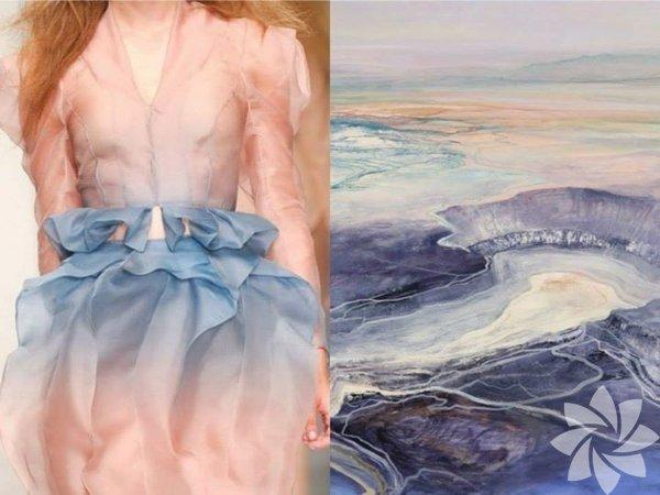 Doğadan esinlenilerek tasarlanan elbiseler