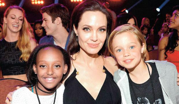 Angelina Jolie'nin kızları çılgına döndü!