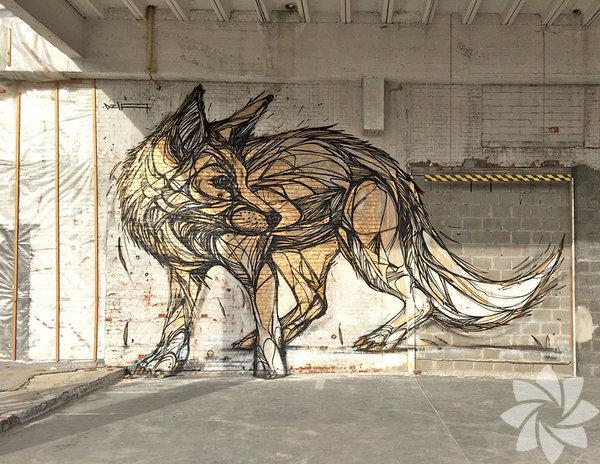 Belçika'lı sokak sanatçısı Dzia, iki buçuk yıl önce başladığı inanılmaz ayrıntılı hayvan sokak sanatı eserleri ile çok biliniyor.