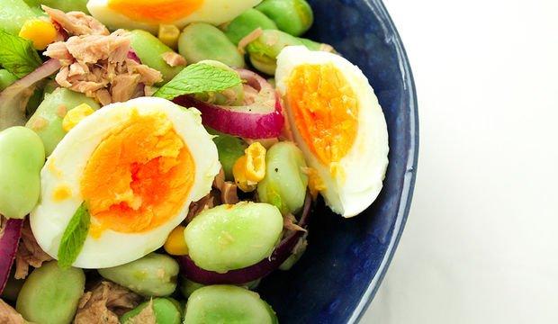 Bakla salatası