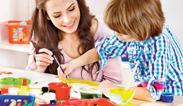 Anneler ve çocuklar için sanat