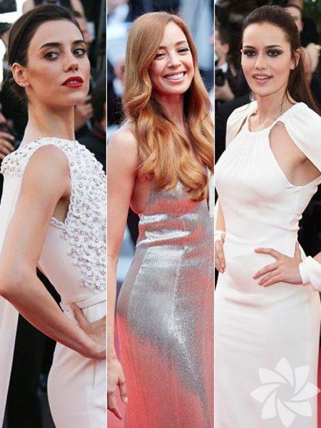 Cansu Dere, Azra Akın ve Fahriye Evcen bir markanın güzellik elçileri seçildiğinden Cannes'da markayı temsilen kırmızı halıda boy gösterdiler...