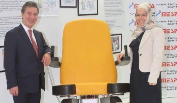 Dikey doğum koltuğu tasarımı ödül aldı!