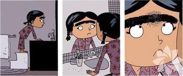 Avusturalyalı ünlü illüstratör Gavin Aung Than, kaşlarından rahatsız olan küçük bir kızın hikayesini çizdi.