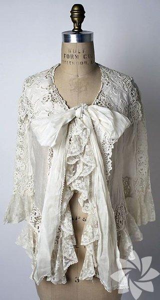 Türk kızı çeyizinin olmazsa olmazı lizöze en eski örnek, British Museum'dan… 1800'lü yıllara ait bir 'ev ceketi'.